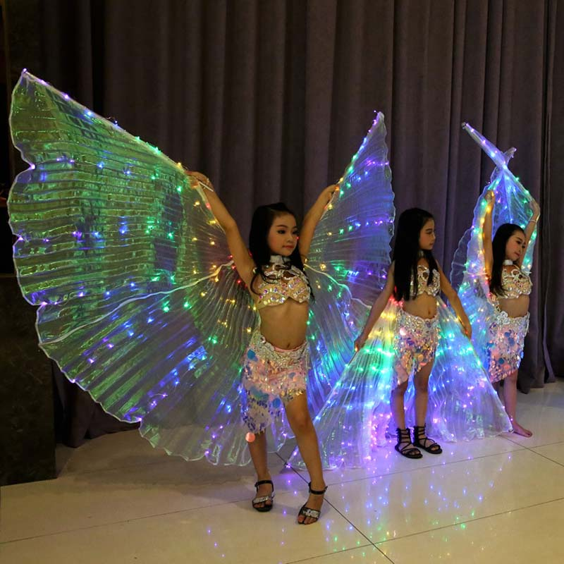 Для девочек, для танца живота, яркий свет, LED, ISIS Wings, костюм для танца живота, костюмы для танцев, световое шоу, реквизит для танцев