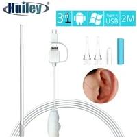 3 in 1 ear camera otoscope hd visual endoscope usb otoscopio ear cleaning usb endoscope