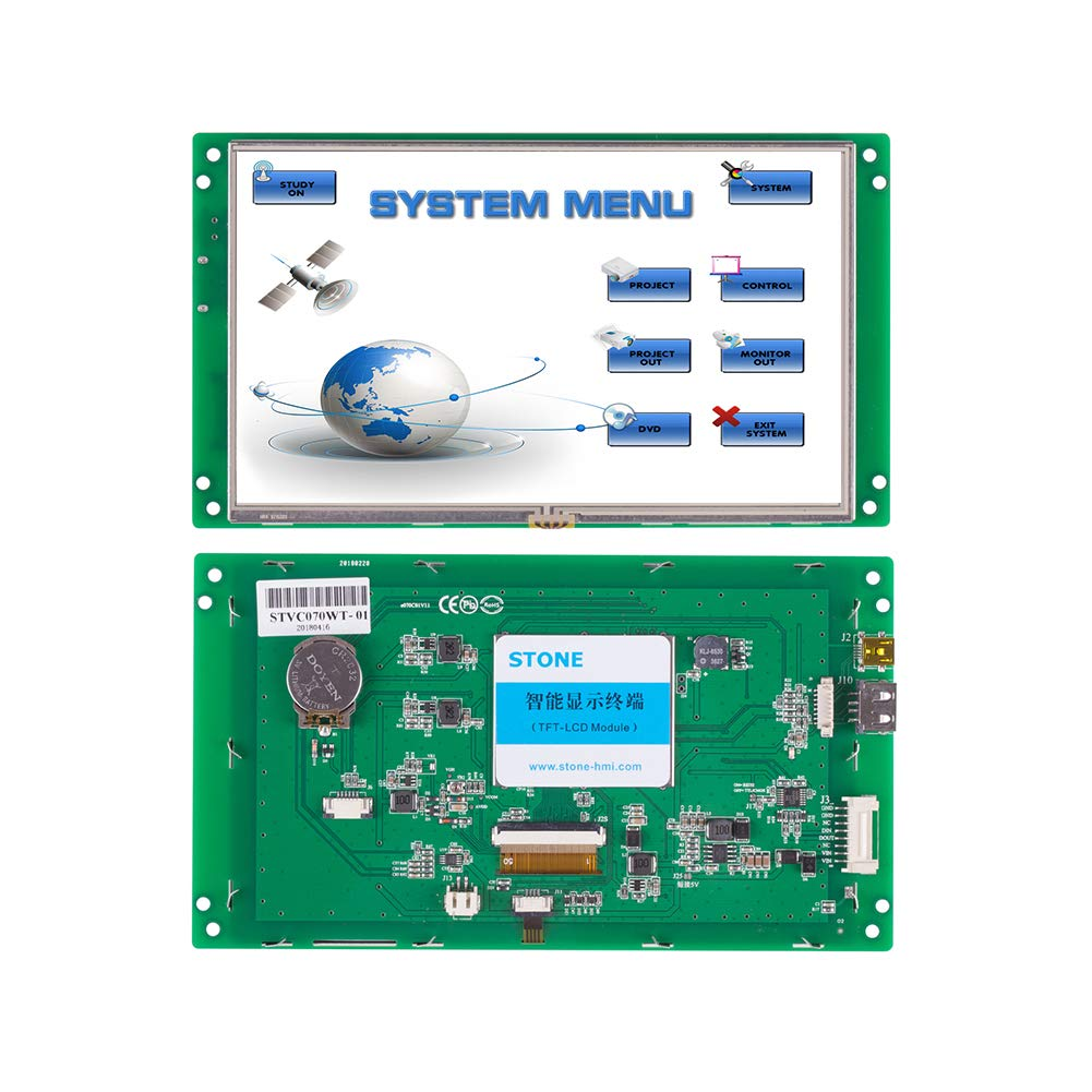 STONE Smart HMI TFT LCD Module Display with Controller Board + RS232/RS485/TT2 Port for Smart Aome + Touch Screen