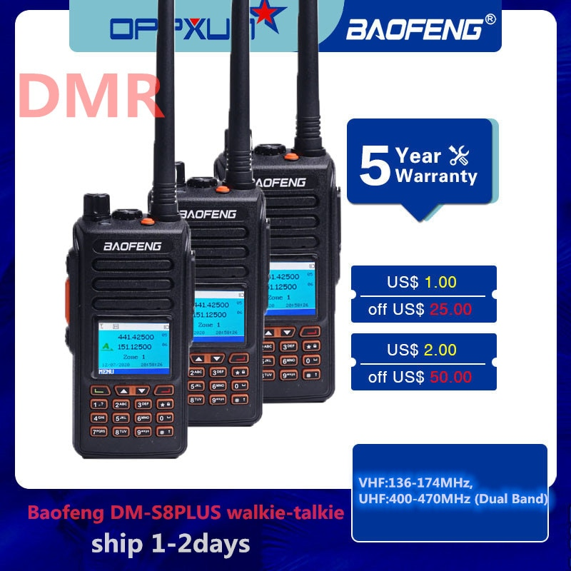 2020 Baofeng DM-S8PLUS Walkie-talkie Dual Time slot DMR Digital/Analog DMR Repeater Upgrade Long-distance Walkie-talkie