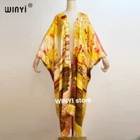 middle east sunmer women cardigan stitch open loose long dress cocktail party boho maxi african holiday batwing sleeve silk robe