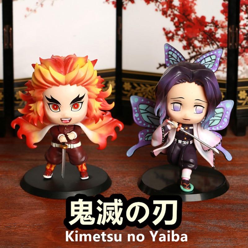 8cm Demon Slayer Anime Figure Rengoku Kyoujurou Kochou Shinobu Action Figure PVC Kochou Shinobu Action Figurine Model Toys