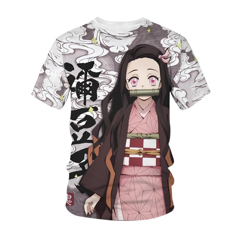 AliExpress - Summer Anime Harajuku Men's and Women's T-Shirts Streetwear No Yaiba Kimetsu Street Hippie Cartoon Tops for Boys and Girls