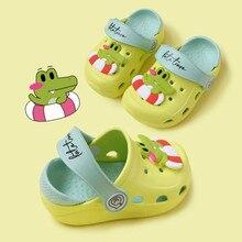 Lindas sandalias antideslizantes para niñas zapatos de jardín de dibujos animados para niños sandalias de verano para niños zapatillas de playa de alta calidad para niños
