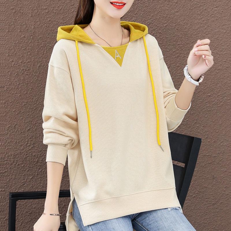 2020 nueva ropa de primavera suéter holgado con capucha para mujeres coreanas ocio Universidad ropas para viento marea ins lazy