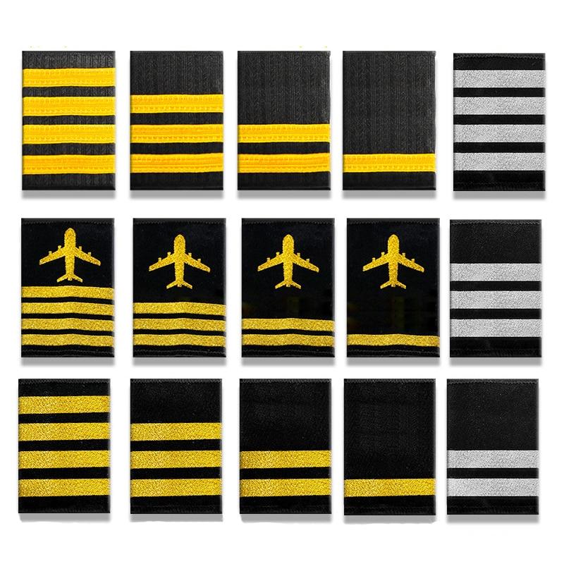 Эполеты для украшения одежды, 1 пара, профессиональные эполеты пилотов, эполеты для рубашек, рукоделия, аксессуары для одежды своими руками