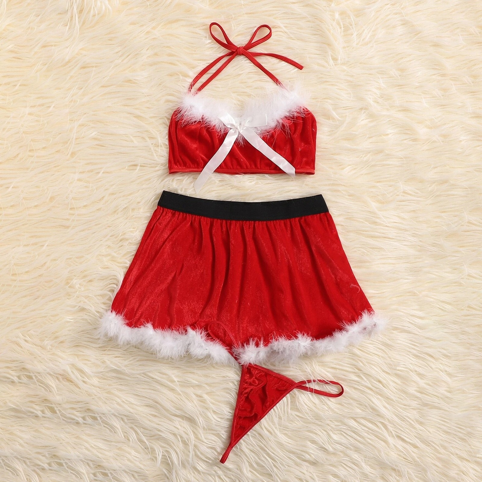 1 Set Sexy Lingerie Hot Dress Underwear Lace Set Red Erotic Lingerie+G-string Sexy Costumes Novelty