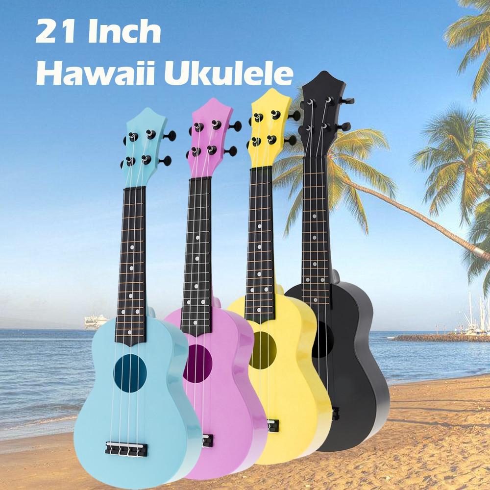 Ukulele 21 Inch Colorful Acoustic Ukulele Uke 4 Strings Hawaii Guitar Musica Instrument for Kids Music Beginner enlarge