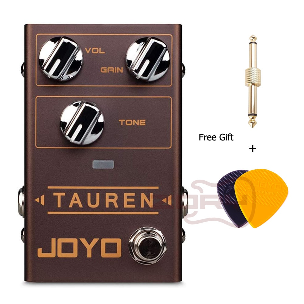 JOYO R-01 Tauren Overdrive Guitar Pedal with GAIN Control Dynamic Overdrive Effect Pedal Guitar Accessories With Free Gift