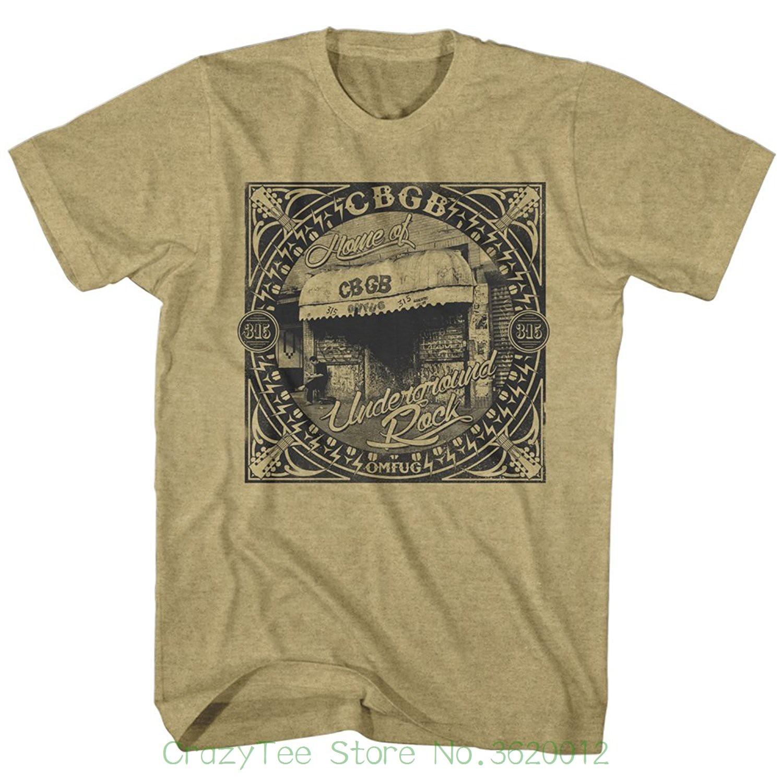 Novo 2018 algodão manga curta camiseta cbgb 80s s nyc rock and roll clube de música adulto camiseta t underground rock