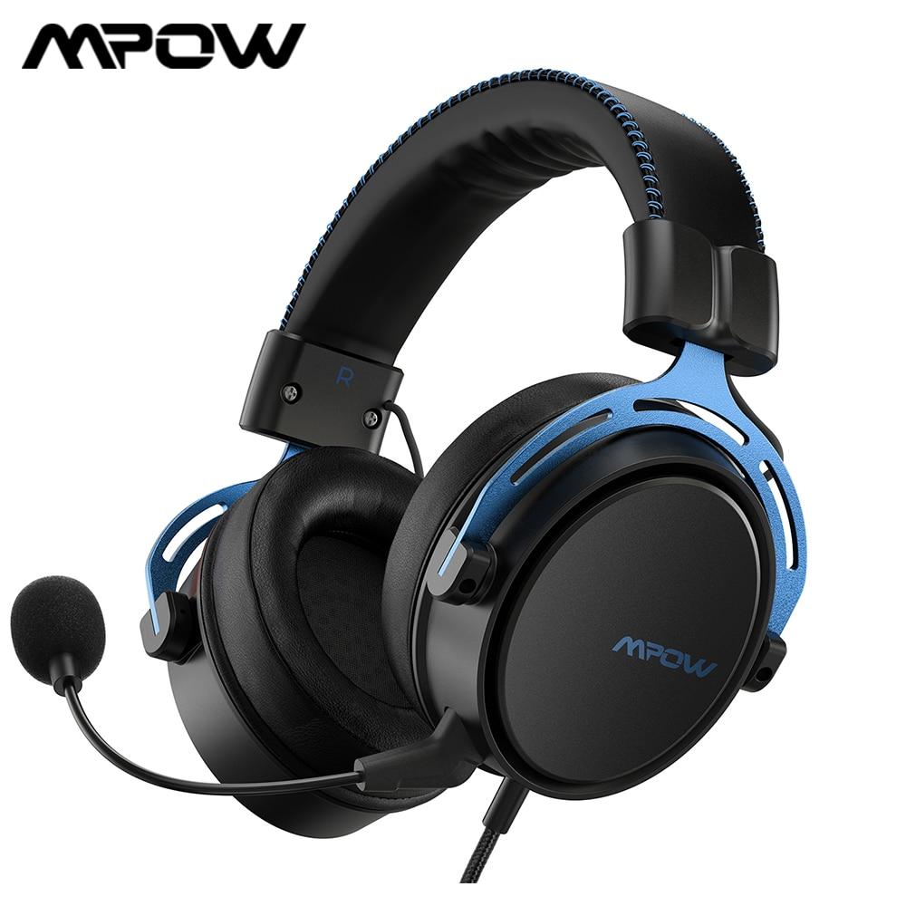 Mpow الهواء SE سماعة الألعاب 3.5 مللي متر سماعة رأس سلكية الصوت المحيطي سماعات للعب مع إلغاء الضوضاء Mic ل PS4 الكمبيوتر التبديل ألعاب