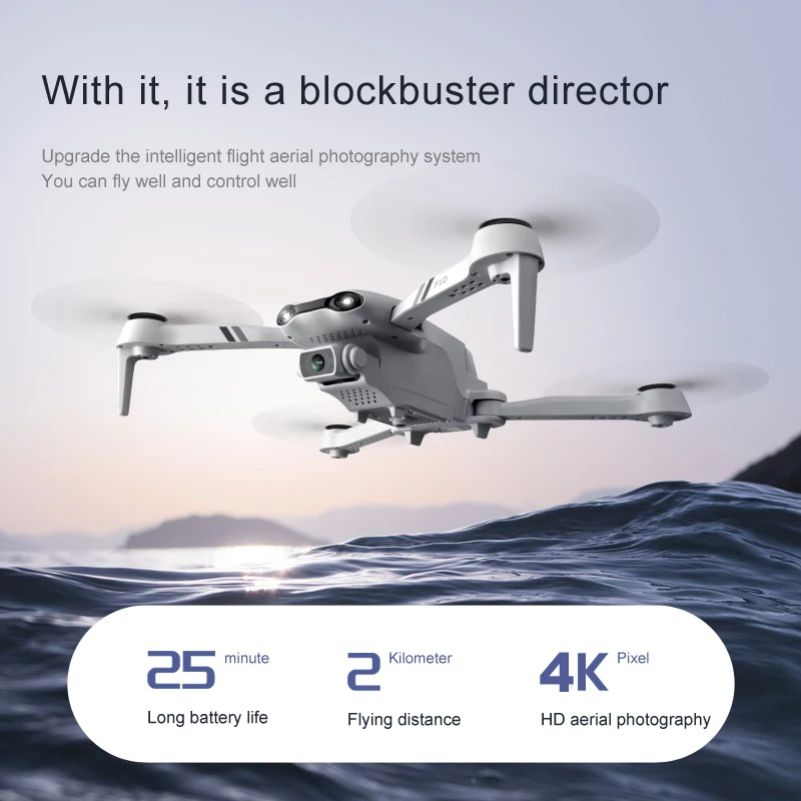 2021 New F10 drones with camera hd 4k profesional rc quadcopter GPS 5G WIFI Wide Angle FPV Real-Time Transmission helicopter Toy enlarge