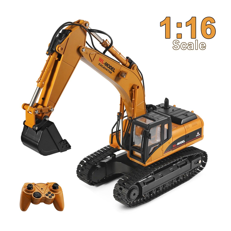 WLtoys XKS 16800 116 électrique télécommande pelle jouet camion RC Construction tracteur lumière son Non toxique fumée RC voiture