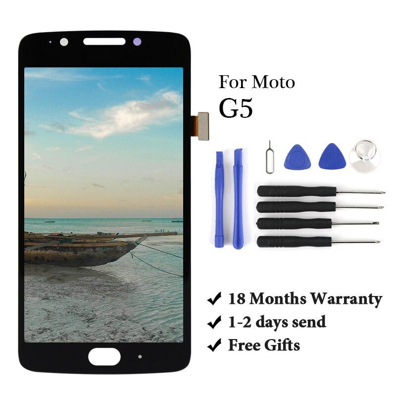 Pantalla de prueba de 100% para Moto lora G5 LCD reemplazo de ensamblaje de digitalizador de pantalla táctil para moto G5 xt1672 xt1676 lcd pantalla táctil