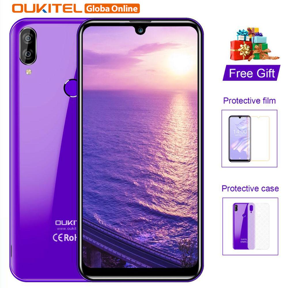 "OUKITEL C16 Pro teléfono móvil 3GB / 32GB Quad Core 5,71 ""teléfono móvil 2600mAh huella dactilar identificación facial 4G LTE Android 9,0 Smartphone"
