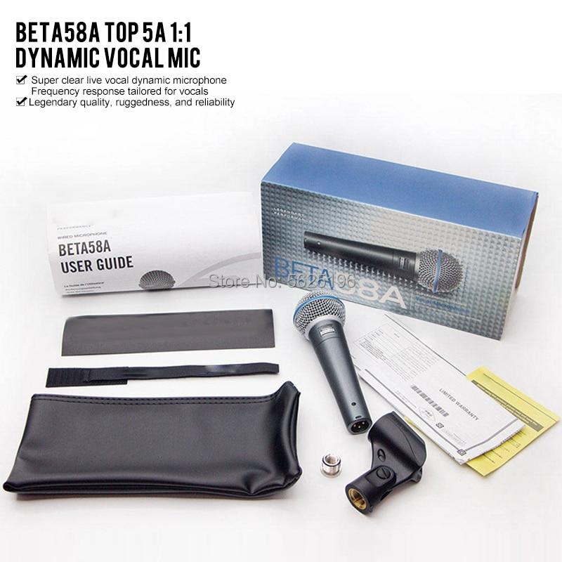 ميكروفون صوتي ديناميكي عالي الجودة من نوع بيتا 58a كاريوكي مايك ميكروفون بسعر 58 58A shure Beta58