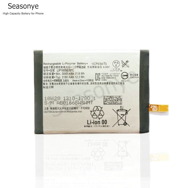 Seasonye Genuine 3060mAh / 11.8Wh LIP1655ERPC Phone Replacement Battery For Sony Xperia XZ2 PF22 SO-03K SOV37 702SO H8296 H8216