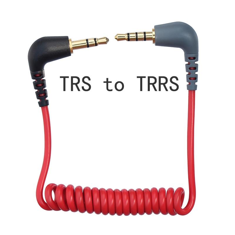 Cable de micrófono en espiral TRS a TRRS, 3,5mm, para RODE Sc7,...