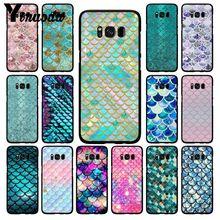 Yinuoda rose violet paillettes sirène écailles étui de téléphone pour Samsung Galaxy S20 S10 Plus S10E S6 S7 S8 S9 S9Plus S20 S10lite