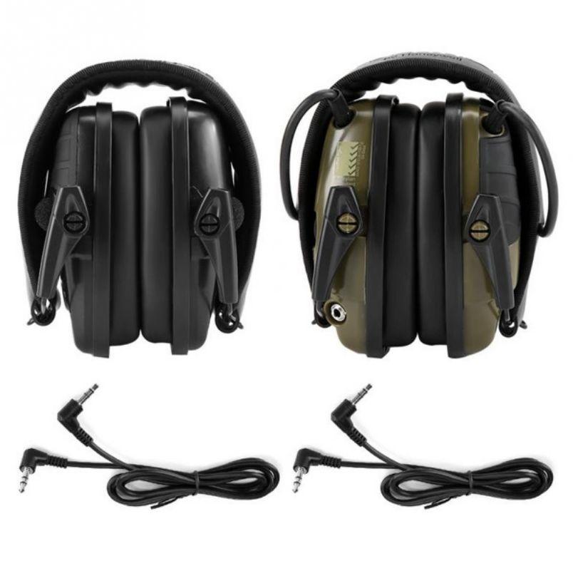2 قطعة هوارد Leight الأخضر + الأسود اطلاق النار سماعات مكافحة الضوضاء تأثير الصوت تضخيم السمع سماعة واقية