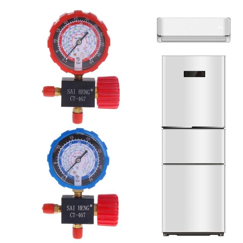 Válvula de manómetro de colector único de tres vías para aire acondicionado R134A R404A R22 R410A