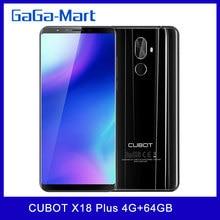 CUBOT X18 Plus 4G téléphone portable FHD + 189 octa-core 4GB + 64GB caméra arrière 20MP + 2.0MP caméra frontale 13MP empreinte digitale smartphone