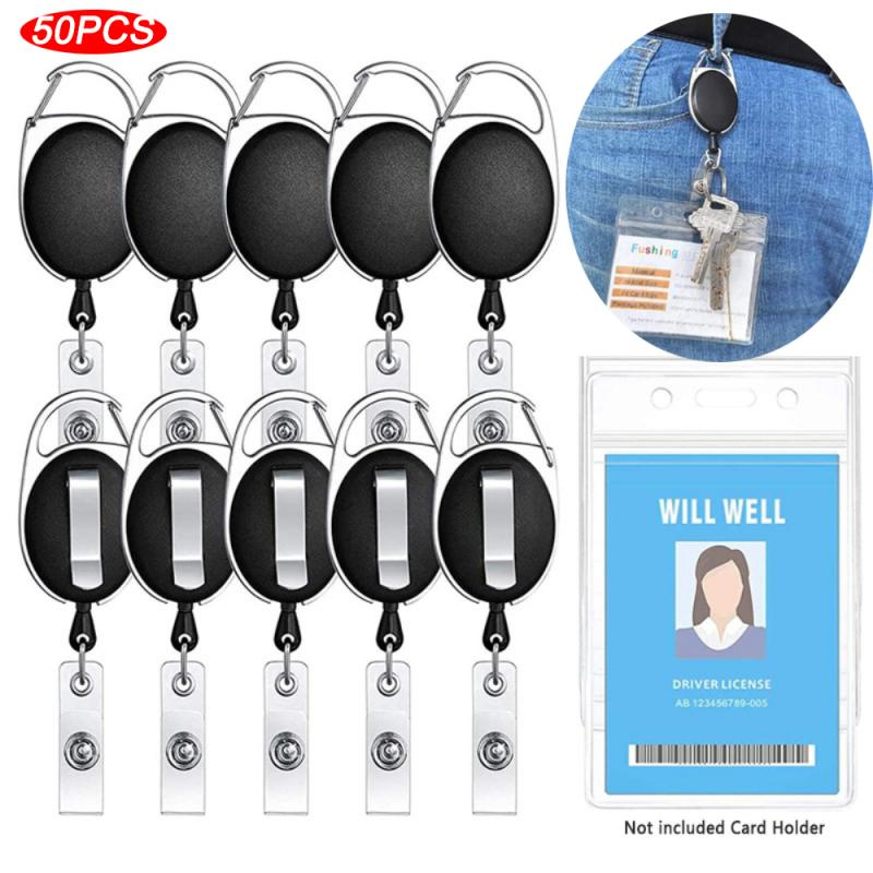 50 шт., брелки для ключей, телескопические брелки для ключей с защитой от потери