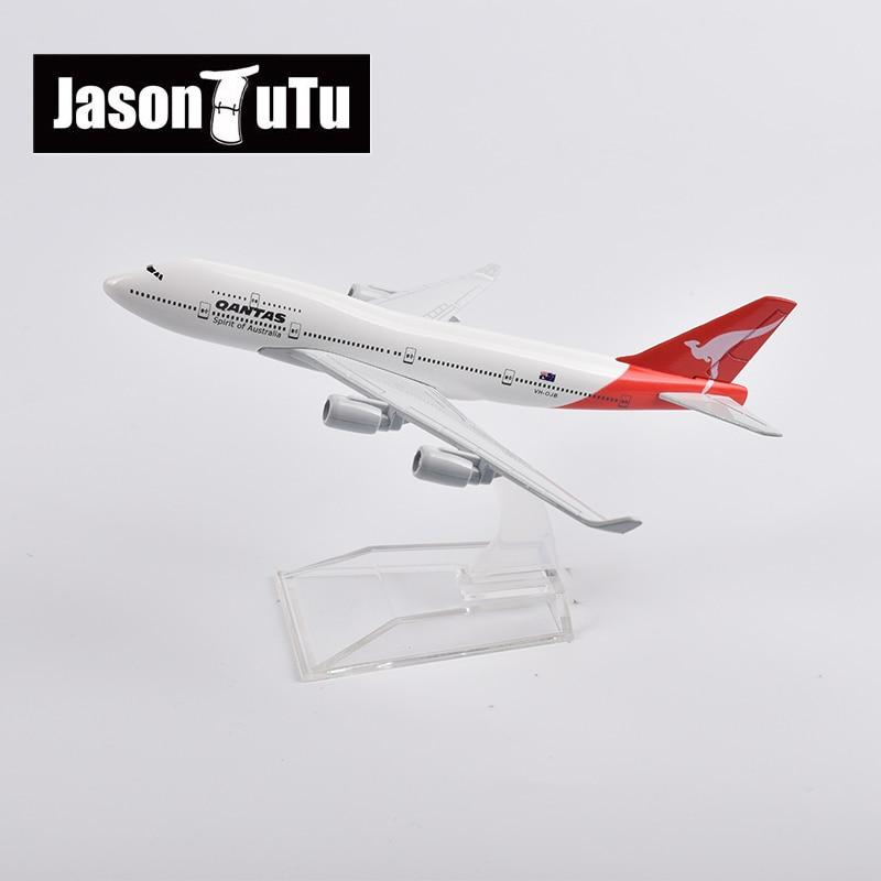 aviao modelo jason tutu de 16cm qantas aeronave de metal fundido balanca de 747 colecao de presente