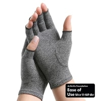 beautiful1 pair compression arthritis gloves wrist support cotton joint pain relief hand brace women men therapy wristband