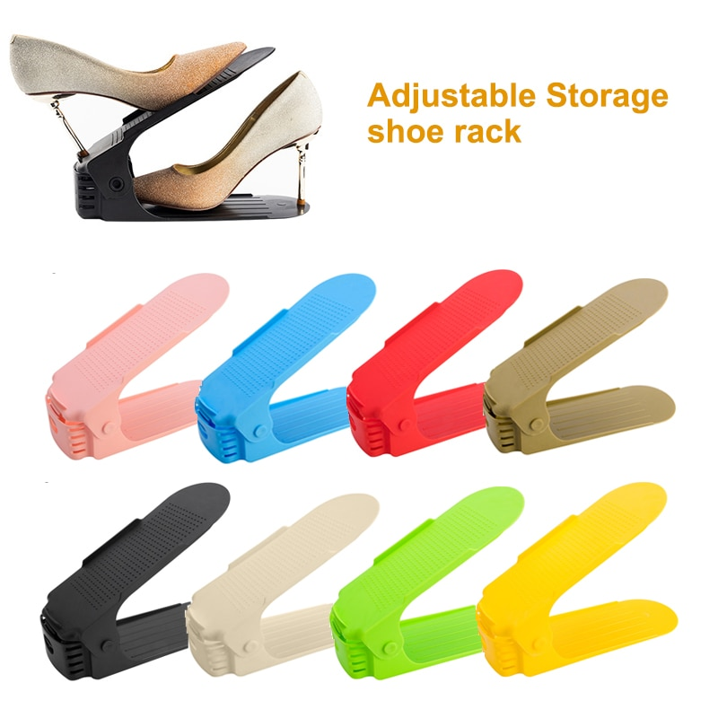 10 sztuk 8 sztuk 6 sztuk regulowany organizer na obuwie podwójne Shoe Rack przestrzeń magazynowa Saver buty organizatorzy Slot stojąca półka do szafki