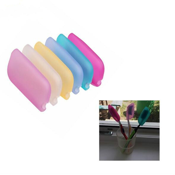 6Pcs Portable Travel Toothbrush Holder Head Cover Protective Cap Health Germproof Random Color Bathroom Products Accessories