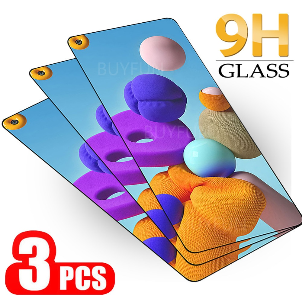 3Pcs Protective Glass For Samsung Galaxy A21s 21 S M-A217F Light Protection Film For Samsung A72 A52 A42 A32 A21 A12 Sklo Cover