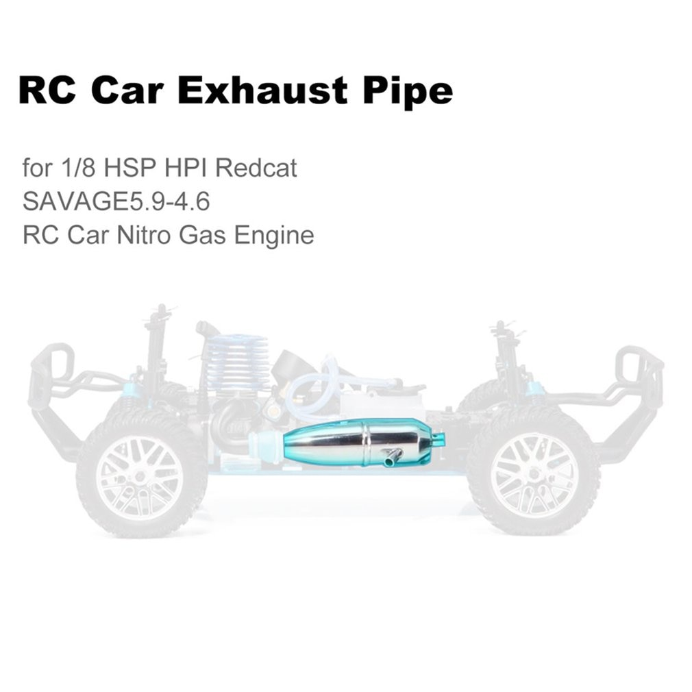 1/8 Aluminum Dual Exhaust Joint Tubing Exhaust Pipe 18001P For HPI Nitro Savage 4.6 5.9 RC Car 21 / 26 / 28 Engine enlarge