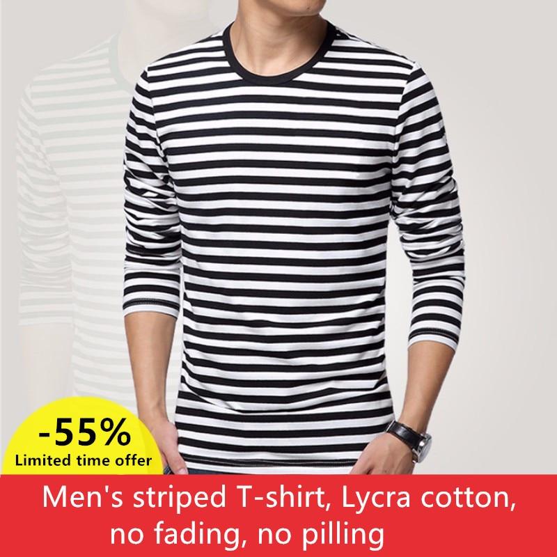 Navy style long-sleeve shirt men T-shirt o-neck stripe t shirt men shirt navy vintage basic 95% cotton shirt navy basic knit round neck t shirts