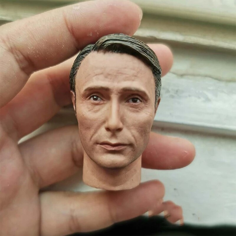 1/6 Male Head Sculpture In Stock Elder Man PVC Carved Doll For 12inches Figure Action Model Body Accessory недорого