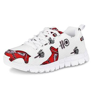 HYCOOL Girls Shoes Traditional Horse Pattern Children Casual Sport Sneakers Kids Spring Autumn Lightweight Running Mesh Footwear