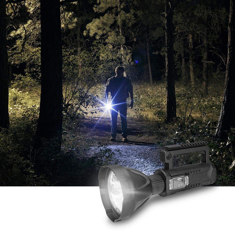 Camping senderismo al aire libre linterna eléctrica de mano de alta potencia P50 linterna a prueba de agua lámpara de punto