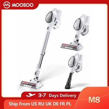 MOOSOO M8 4-in-1 Cordless Vacuum Cleaner, 14Kpa Suction, 150W Powerful, 30Min WorkingTime, 1.3L Dust Cup, Cleaning Appliance