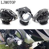 motorcycle headlights auxiliary lamp U5 led spotlight 12V DRL For Kawasaki W800 Cafe KX65 KX85 KX125 KX250 KX250F KX450F KX100