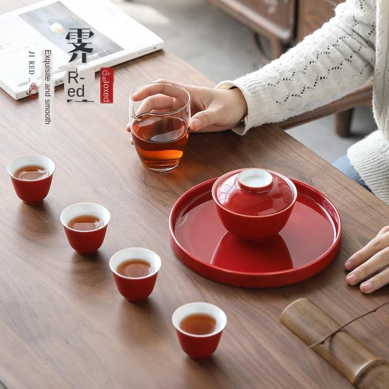 El exitoso juego de té Sancai Tureen Kung Fu juego de té Ji juego de té de porcelana juego de té de viaje juego de té europeo juego de té japonés