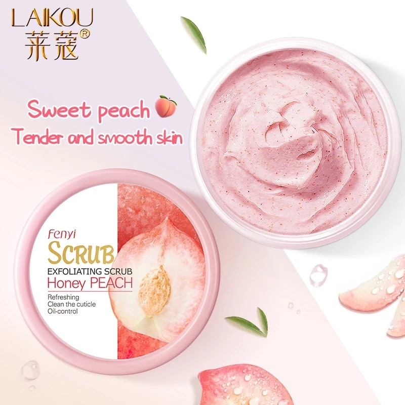 AliExpress - LAIKOU Peach Body Scrub Cream Face Scrub Deep Cleansing Skin Whitening Go Cutin Dead Skin Treatment Acne Moisturizing Body Care