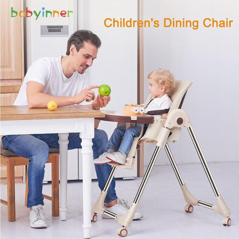 Детское внутреннее регулируемое детское обеденное кресло, Складывающийся усилитель, портативное кресло для кормления, обеденное кресло со...