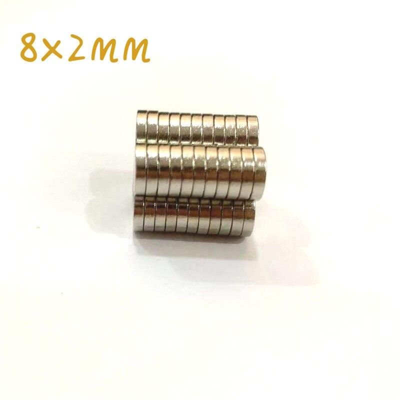 Круглые магниты 8x2, 50/100 шт., 8*2, редкоземельные магниты, супермагниты