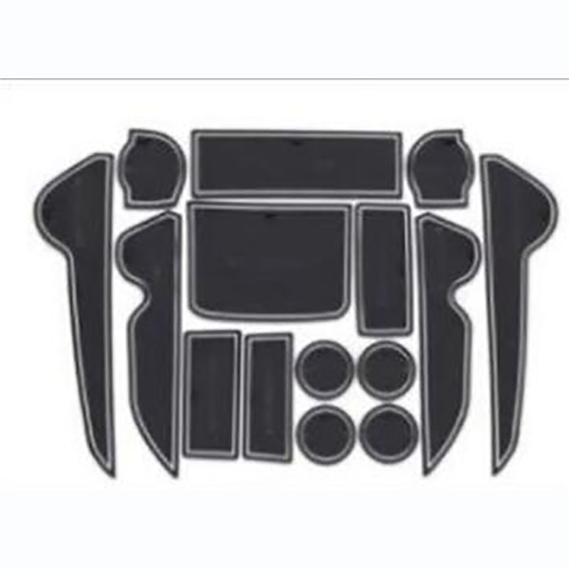 15PCS Rubber Non-Slip Interior Door Mat For Toyota Land Cruiser V8 LC 200 2008-2018 Accessories