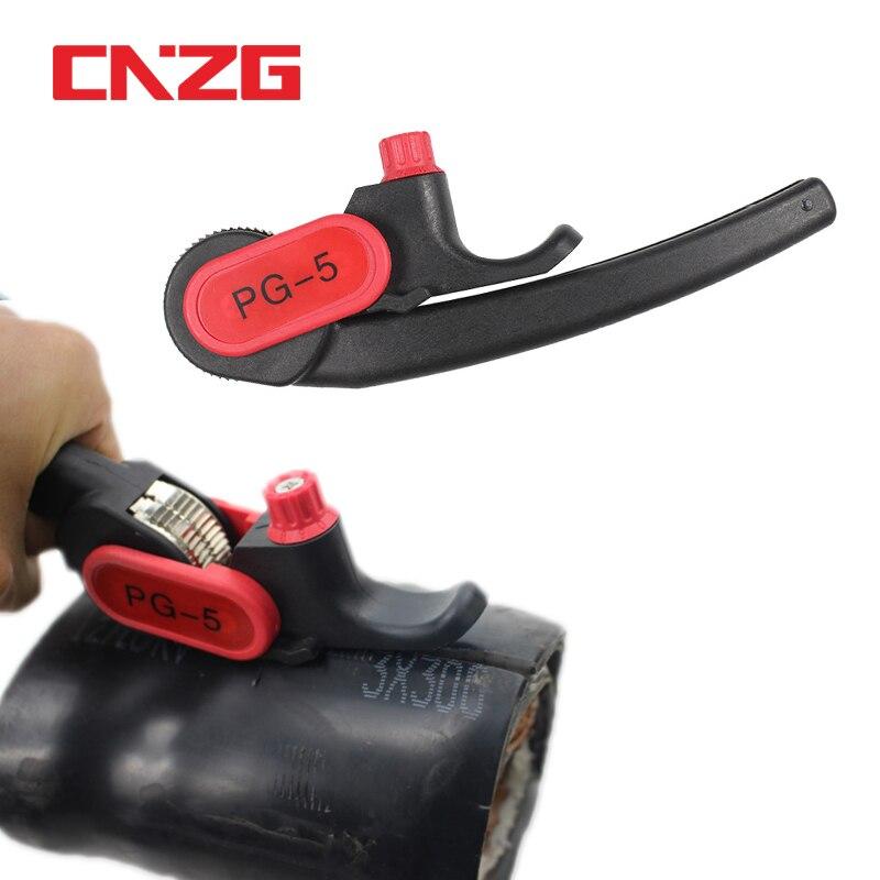 Tipo da roda da catraca da ferramenta de descascamento do stripper do cabo PG-5 para a tira redonda da faca de descascamento de 25mm