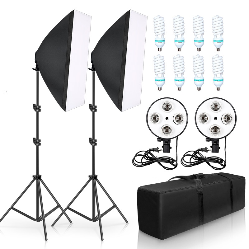 مجموعة استوديو الصور ، 8 قطع ، مصابيح LED ، 20 واط ، سوفت بوكس ، مجموعة التصوير الفوتوغرافي ، الكاميرا وإكسسوارات الصور