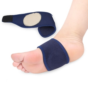 2PCS Breathable Elastic Silica Gel High Arch Foot Pain Relief Plantar Fasciitis Orthopedic Insoles Orthotics Bandage For Heel
