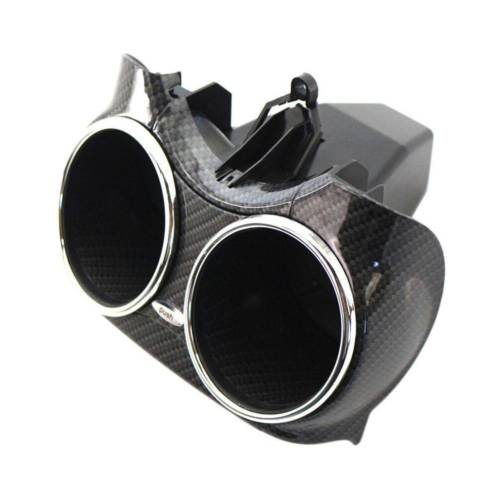 Carbon Fiber ABS Cup Holder Bracket For Mercedes-Benz CLS C219 2006 2007 2008 2009 2010 2011 Dual Cup Car Accessories 2196800414 enlarge