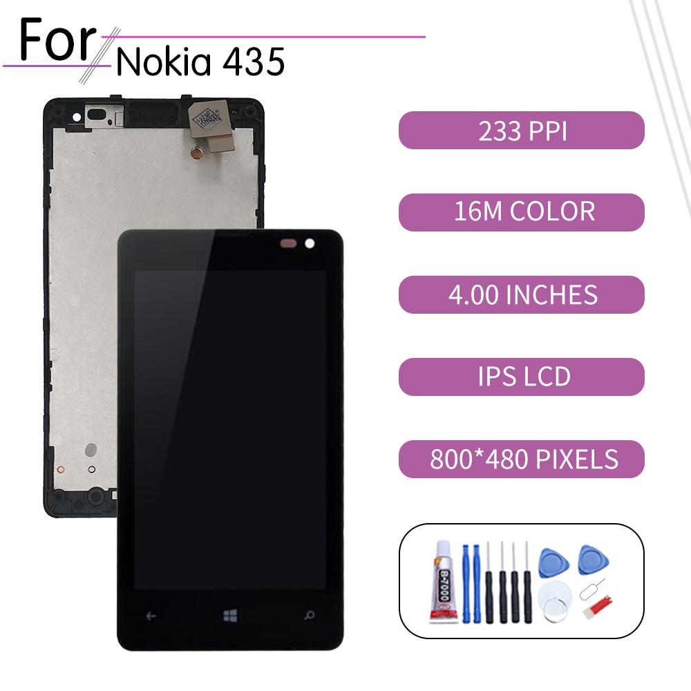 Original para Nokia Lumia 435 pantalla LCD de montaje de digitalizador con...