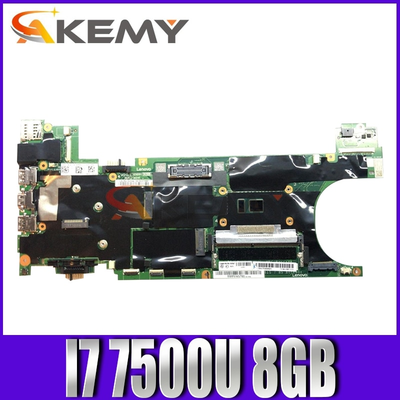 Akemy لينوفو ثينك باد T470S اللوحة الأم NM-B081 اللوحة الأم CPU I7 7500U 8GB RAM FRU 01YR134 01ER308 01ER309 01ER310